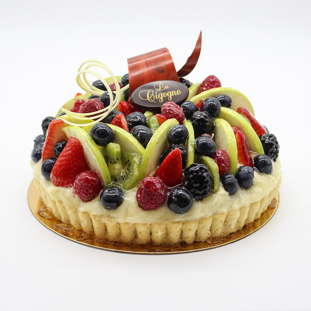 Patisserie La Cigogne Fresh Fruit Flan Pie