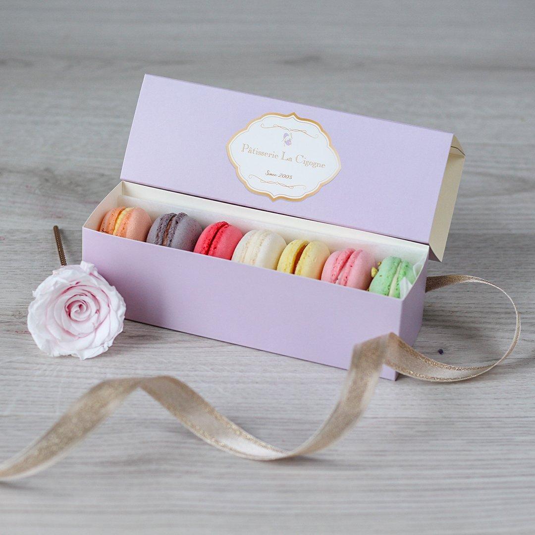 Patisserie La Cigogne Purple Gift Box